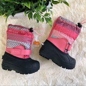 Columbia kids powderbug forty pink snow boots 8